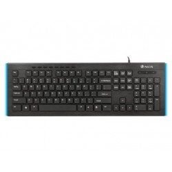 Teclado multimedia NGS Firefly ultrafino con luces led azul y cable 1,80 m