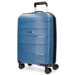 Maleta de cabina 55x39x20 cm Rigida 4 ruedas Movom Wind Azul