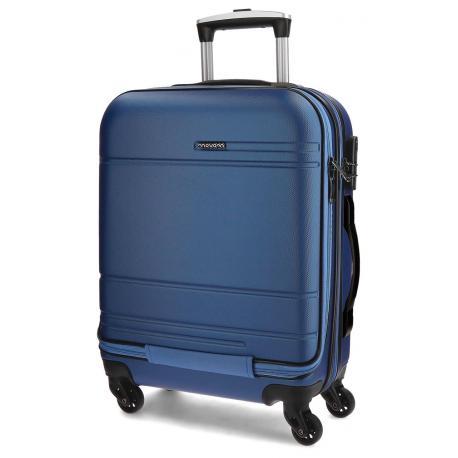 Maleta de cabina 55x40x20 cm de Movom Galaxy Azul con bolsillo frontal