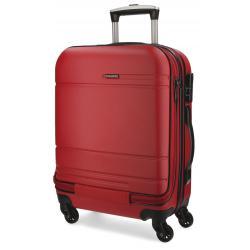 Maleta de cabina 55x40x20 cm de Movom Galaxy Roja con bolsillo frontal