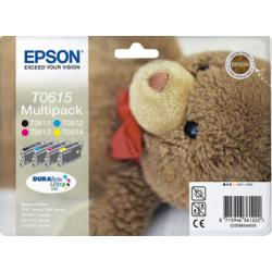 INK-JET EPSON T0615 STYLUS D88 / DX3800 PACK MULTICOLOR - 250 PAG -