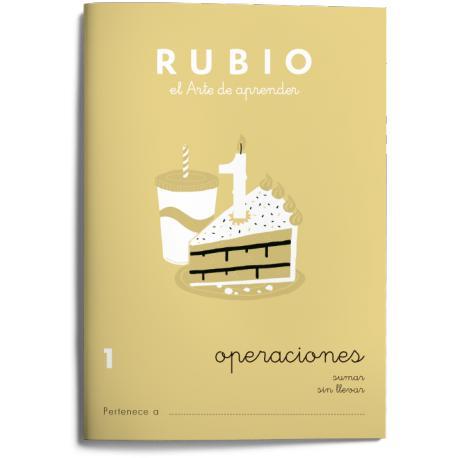 Cuaderno Rubio Problemas nº 1 Operaciones Sumar sin llevar