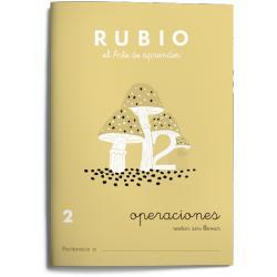 Cuaderno Rubio Operaciones nº 2 Restar sin llevar
