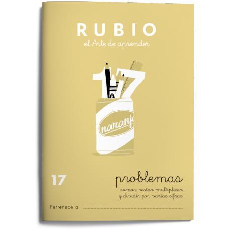 Cuaderno Rubio Problemas nº 17 Sumar, restar, multiplicar y dividir por varias cifras