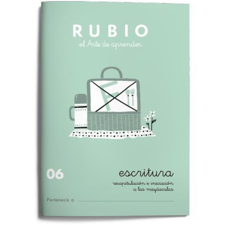 Cuaderno Rubio Escritura nº 06 Recapitulación e iniciación a las mayúsculas