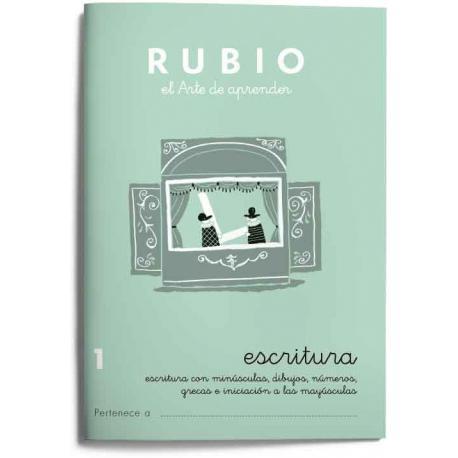 Cuaderno Rubio Escritura nº 1 Escritura con minúsculas, dibujos, números, grecas e iniciación a las mayúsculas