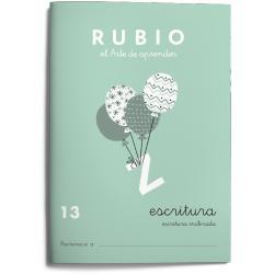 Cuaderno Rubio Escritura nº 13 Escritura inclinada con letra continua
