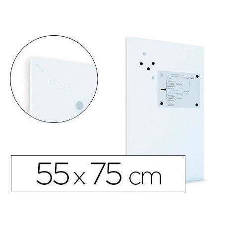 Pizarra Blanca Rocada Mural Magnética sin marco 55x75 cm