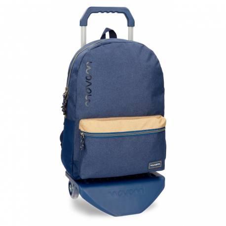 Mochila escolar Movom 41x31x17,5 cm Poliéster Babylon Azul con carro