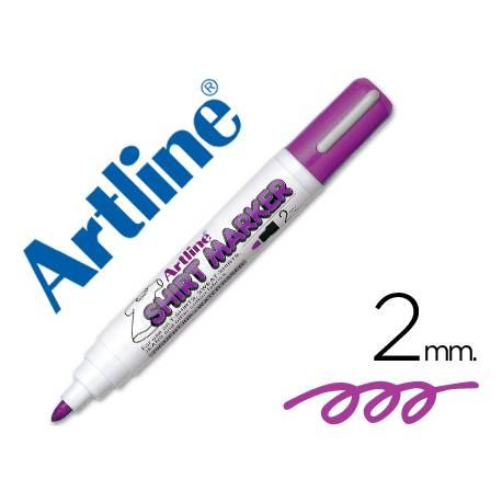 Rotulador para tela textil Artline color violeta