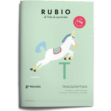 Cuaderno Rubio Vacaciones 3º Primaria