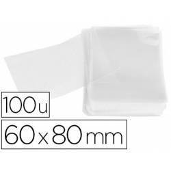 Bolsa de plastico Apli 60x80 mm transparente. Paquete de 100