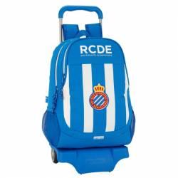 Mochila Escolar Equipo R.C.D Español 43x23x15 Cm con Ruedas