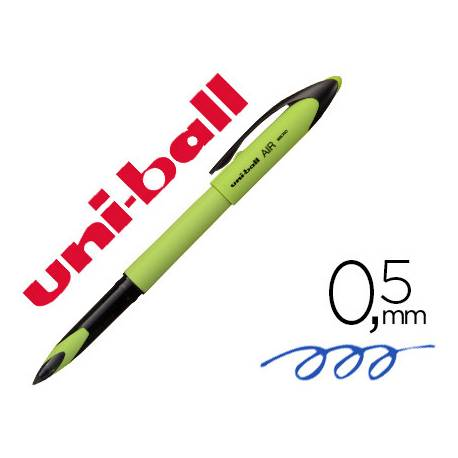 BOLIGRAFO UNI-BALL ROLLER AIR MICRO UBA-188EL-M 0,5 MM VERDE LIMA TINTA AZUL