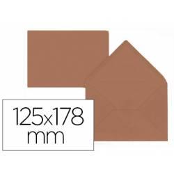 Sobre B6 Liderpapel 125x178mm 80g/m2 Color Marrón Pack de 15 unidades