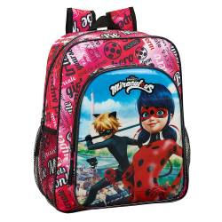 CARTERA ESCOLAR SAFTA LADYBUG MOCHILA JUNIOR ADAPTABLE A CARRO 320X380X120 MM
