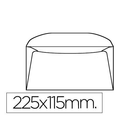 Sobre Americano Liderpapel 115x225mm 90g/m2 Blanco Pack de 10 unidades