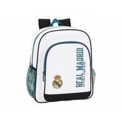 Mochila escolar Real Madrid 38x32x12 cm 1 Equipación 17/18 Adaptable a carro