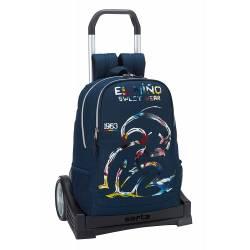 Mochila escolar El Niño 43x33x15 cm Poliéster Splash con ruedas Carro Evolution