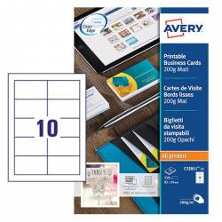 Tarjeta de visita Avery Microperforada 200g/m2 85x54mm Color Blanco 250 Unidades