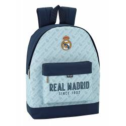 Mochila Escolar Real Madrid 43x32,5x15 cm Azul Celeste