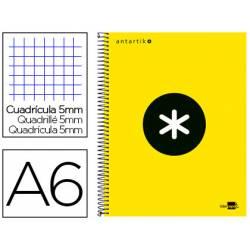 Bloc Antartik A6 cuadricula 5mm tapa Forrada 100g/m2 amarillo 4 bandas color