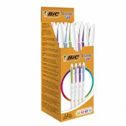 Bolígrafo Bic Cristal Up Bicolor Fun Punta de 1,2mm Colores Surtidos Caja de 20 unidades