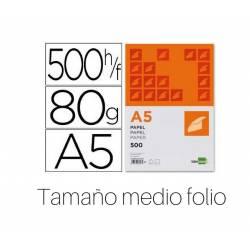 Papel Din A5 Liderpapel 80 g/m2 Escritura 500 hojas tamaño medio folio
