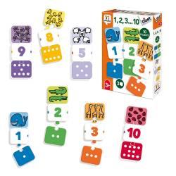 Puzzle a partir de 3 años 1,2,3.....10 Diset