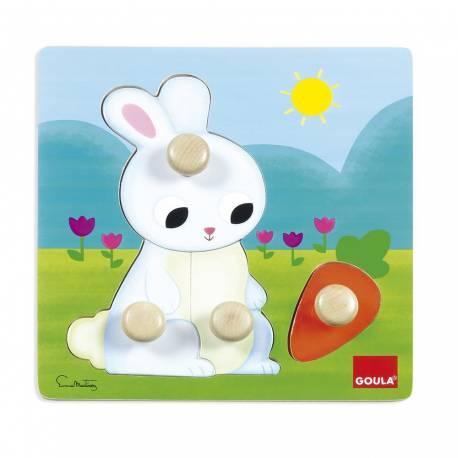 Puzzle de 1 a 4 años Conejo Goula