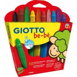 Lapices Cera Giotto Super Bebé Caja de 10 Colores Surtidos + Sacapuntas