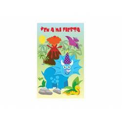 Invitacion para Fiesta Arguval Niños Blister de 8 unidades Dinosaurio