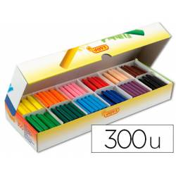 Lapices cera Jovi 300 unidades de 12 colores surtidos