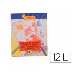 Lapices cera Jovi caja de 12 unidades colores surtidos