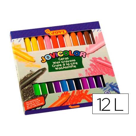 Lapices cera Jovi Jovicolor caja de 12 unidades colores surtidos