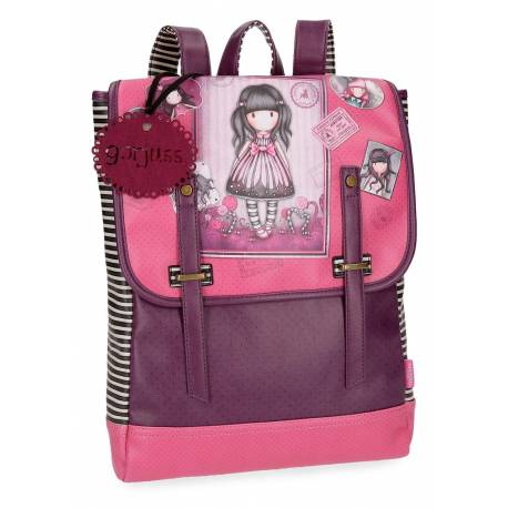 "Mochila para Portatil 13,3"" Gorjuss de Piel Sintetica Sugar and Spice"