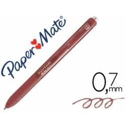 Boligrafo Paper Mate Inkjoy Retractil Gel 0,7 mm Color Marron