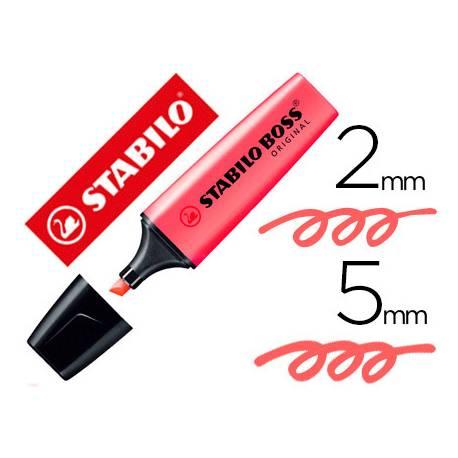 Rotulador Stabilo Boss 70 salmon fluorescente