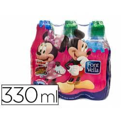 Agua mineral natural Font Vella Kids botella 330 ml