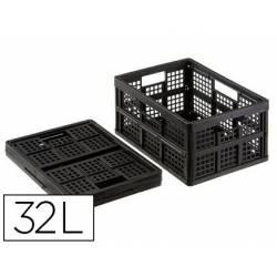 Caja de Almacenaje Archivo 2000 de Prolipropileno 32 L plegable 44,3x31,5x22,5 cm con tapa