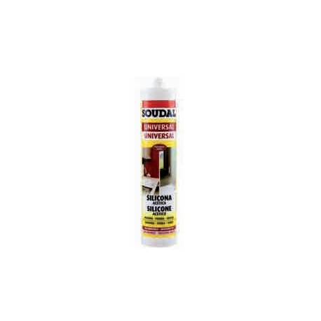 Silicona Universal Soudal Acetica Blanca 290 ml