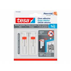 Clavo Autoadhesivo Tesa Ajustable para paredes 24 mm