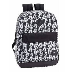 Mochila Escolar Mickey Mouse Teen 43x32x14 cm de Poliéster Adaptable a carro