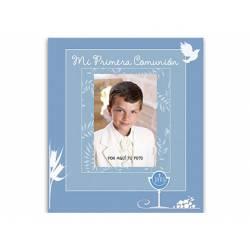 Libro de Recuerdo Comunion Arguval Foto Personalizable Azul