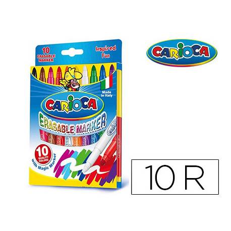 Rotulador Carioca Erasable Magic caja 10 unidades