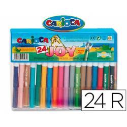 Rotulador Carioca Joy Cristal fino lavable caja 24 rotuladores