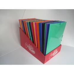 Carpeta gomas cartoncillo plastificado Saro 741 color Rojo