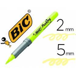 Rotulador Fluorescente Bic Highlighter Flex color Amarillo