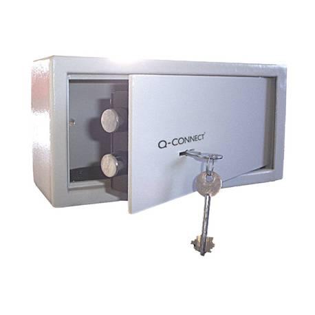 Caja fuerte Q-Connect Doble Pasador 6L 200x200x150mm con Llave