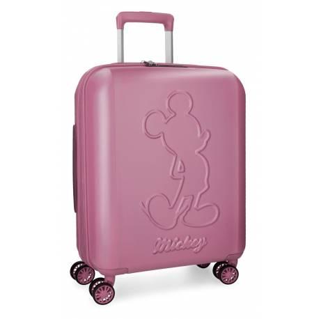 Maleta de cabina 55x40x20 cm Rigida Mickey Premium de color Rosa
